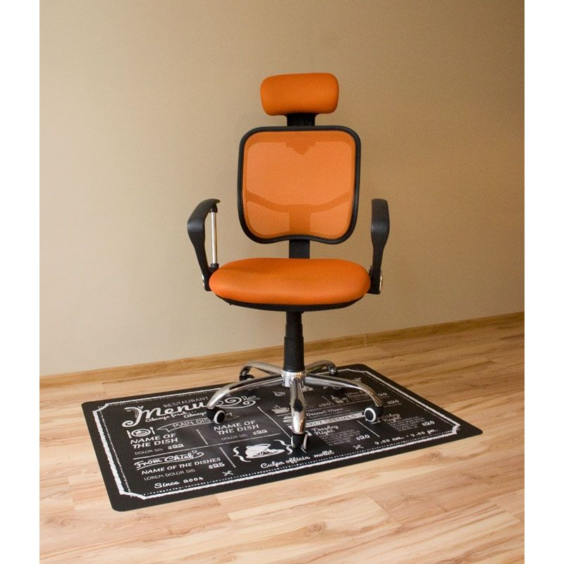 Mata ochronna pod krzesło obrotowe z nadrukiem 015