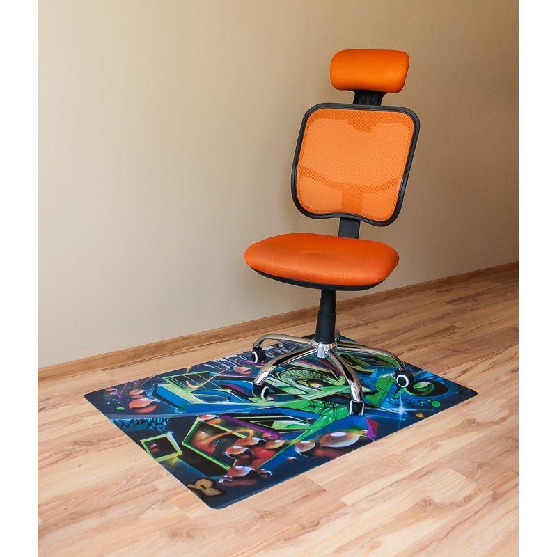 Mata ochronna pod krzesło na kółkach z grafiką 047 pod
