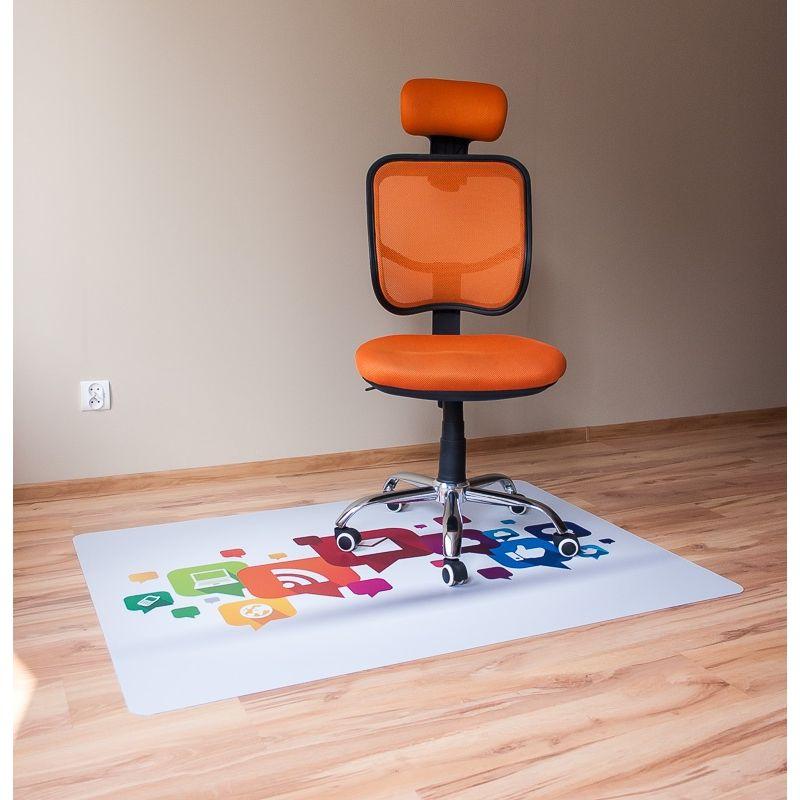Maty Ochronne Pod Krzesła Ze Wzorem 037 Kolorowe Ikonki